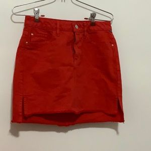 Guess red skirt size XS